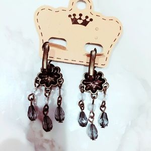 Jewelry - Bronze and Teal Leverback Earrings Pierced